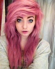 pink hairstyle pics hair color