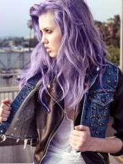 purple hair strayhair