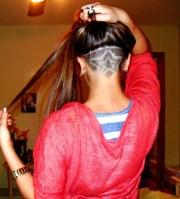 nape haircut design women