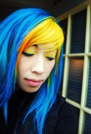 bright yellow hair 7 unique color