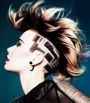 side undercut hairstyle design