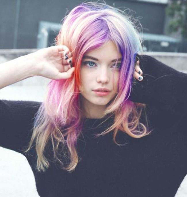 Opal Pastel Rainbow Hair Unicorn