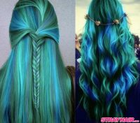 Peacock Blue And Green Hair H A I R Pinterest Of Hair ...