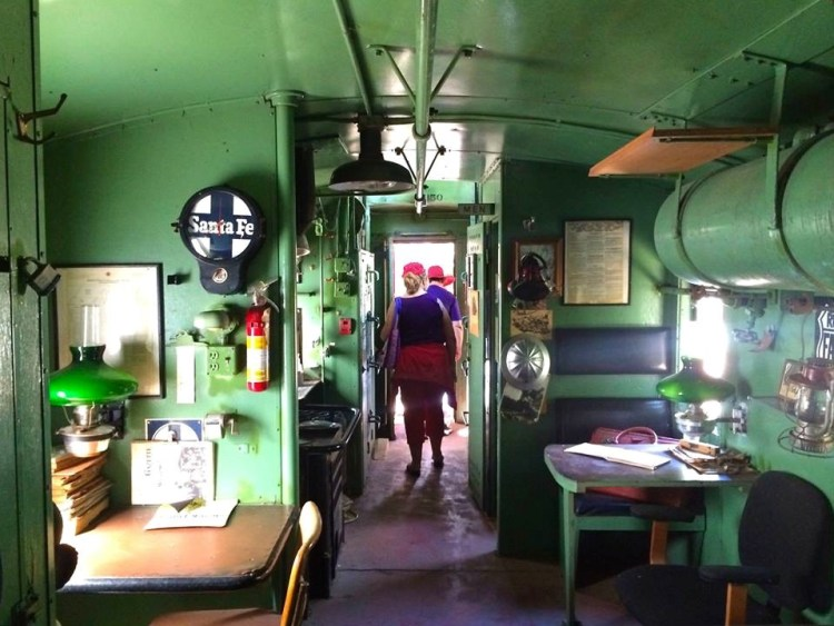 There are 5 residences on the property that occasionally come up for rent. Guests often stay in the Santa Fe caboose which had to be craned over the walls in order to make it into the castle walls.