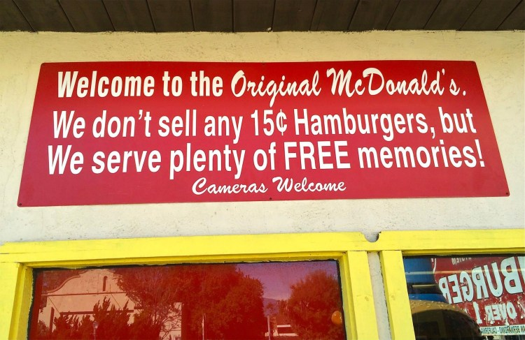 "McDonald's Corp. has also warned Okura not to refer to his collection of memorabilia as a ""McDonald's Museum."" Now he is careful to call it the ""historic site of the original McDonald's restaurant."""