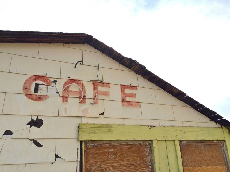 Boarded up but not forgotten along Highway 395.
