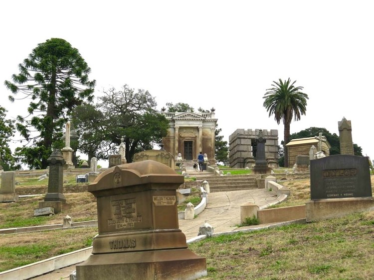 With its stately avenues and winding roadways, its native live oaks and imported Italian stone pines, its simple columbarium and elaborate mausoleums, Mountain View Cemetery is a wonderful example of early American culture and the lively spirit of early California.
