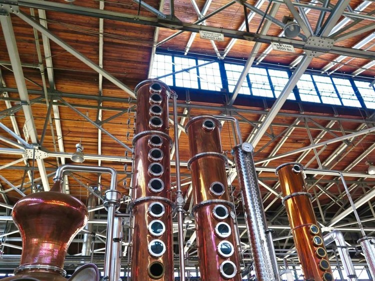 The Willy Wonka-esque stills were hand- and custom-made in Holstein, Germany – no other distillery has them.