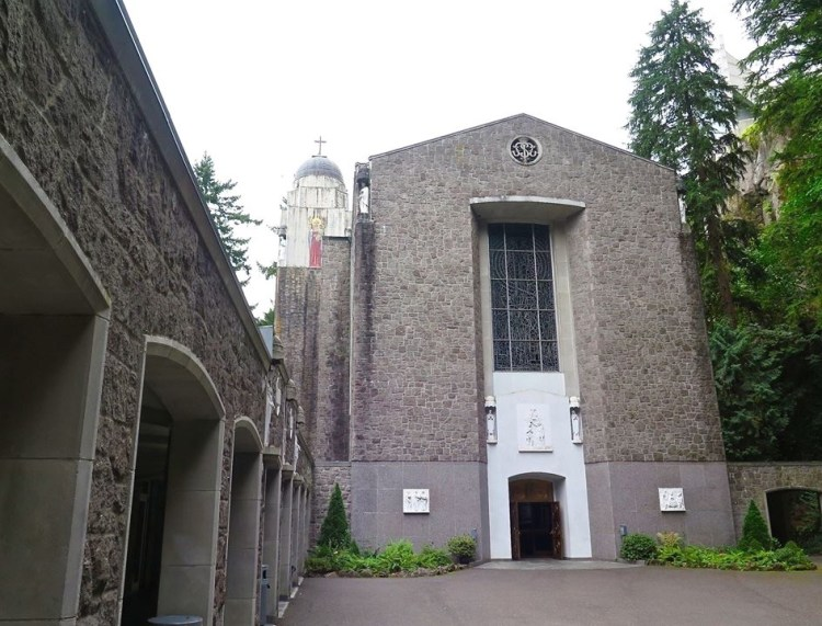 The Chapel of Mary was built and dedicated in 1955 by Archbishop Edward Howard, DD, and was designed by Luther Dugan.