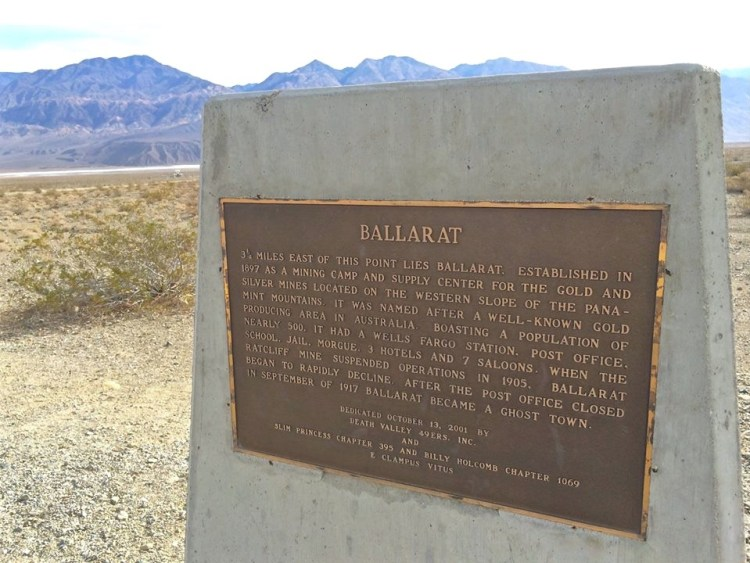 Off Hwy 178 near Trona and the boarder of Death Valley lies the ghost town of Ballarat.