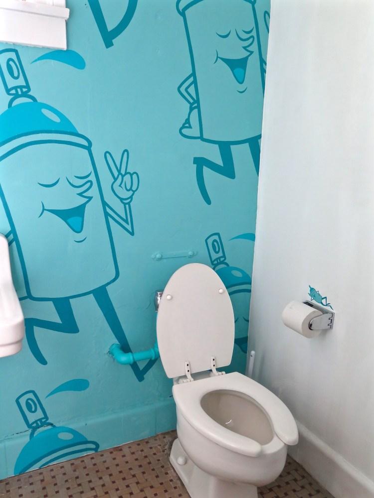 ...fun bathrooms...