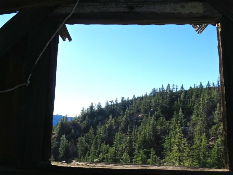 You don't see many 2-story miners cabins still standing like this anymore, especially here, in Angeles Crest.