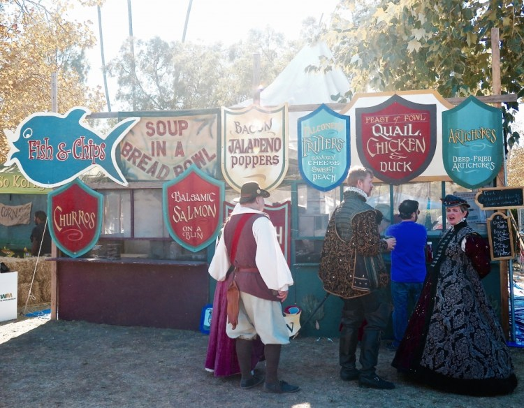 """Renaissance grub...which was right next door to the """"Me So Korny"""" booth."""