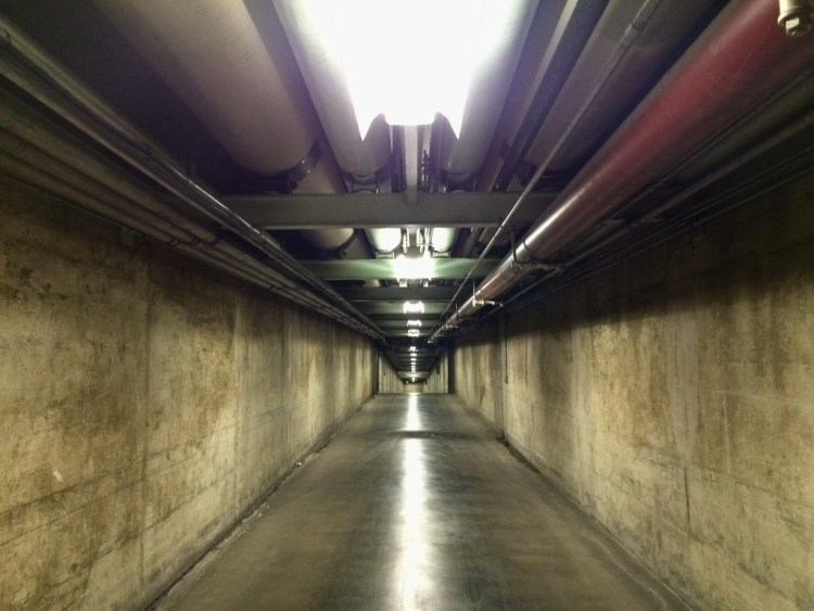 Beneath the busy streets of the City of the Angels is a complex network of pedestrian tunnels that stretch several blocks from Spring and Temple streets to 1st Street and Grand Avenue.