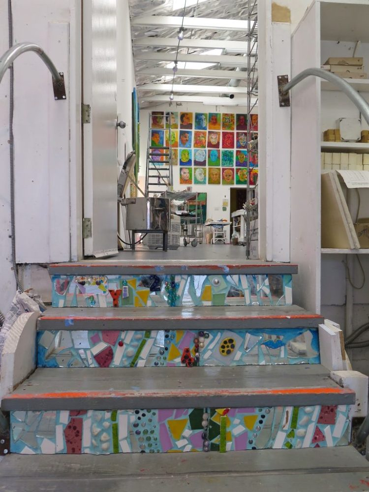 The kilns share a room behind the main studio with Duran's surrealistic works, painted in the hot colors of Mexico.