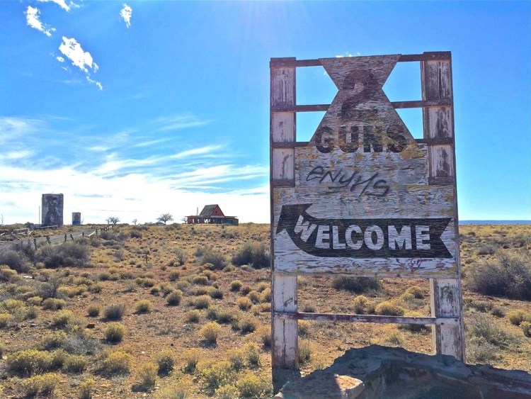Welcome to Two Guns, AZ...