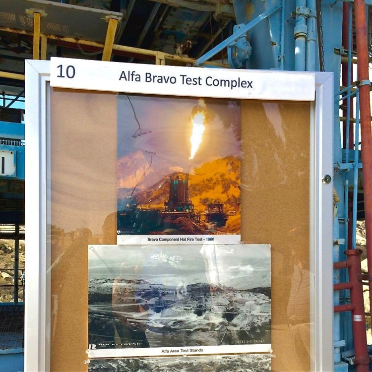 What a Bravo component hot fire test looked like in 1960.