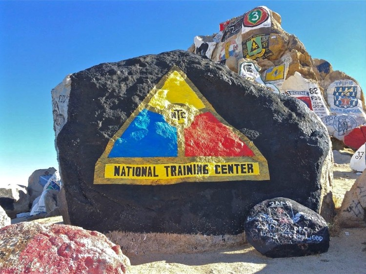 NTC represents @ Fort Irwin's Painted Rocks
