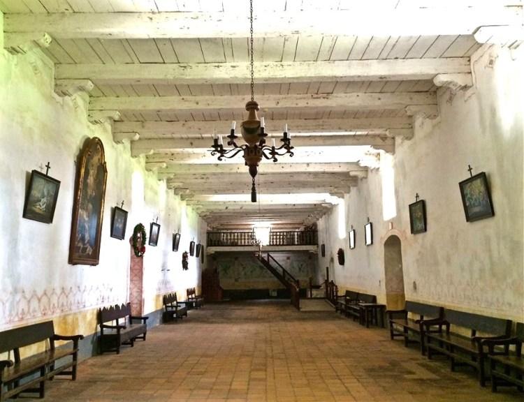 Inside the main church.