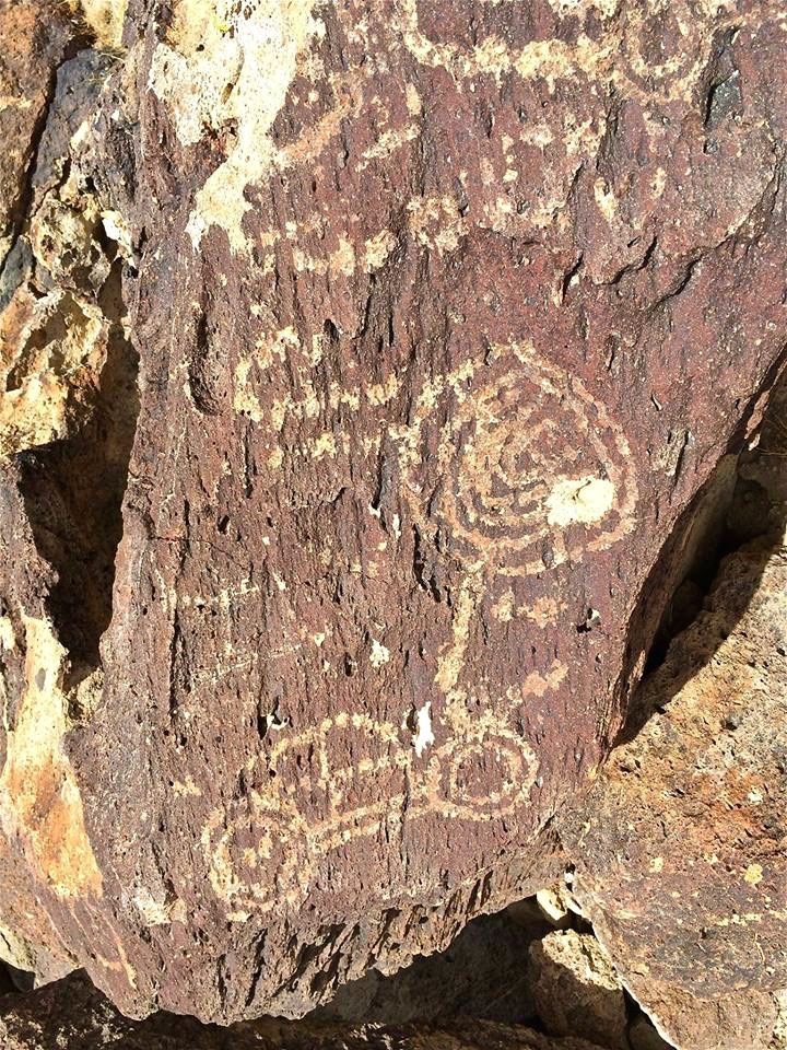 One theory speculates a relationship may exist between these carvings and hunting rituals since game trails are found near many petroglyphs sites.