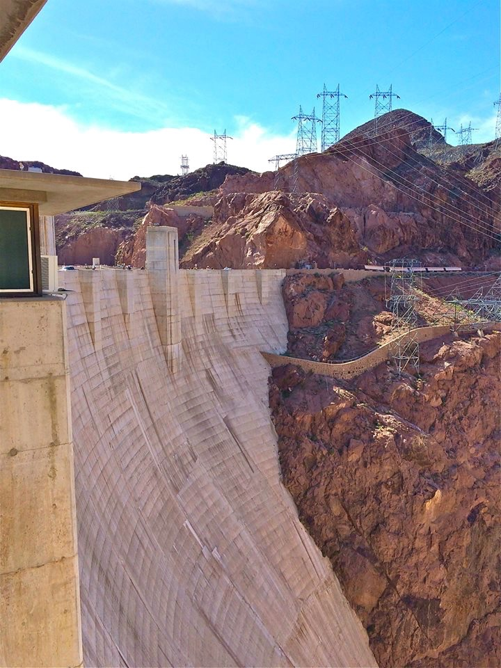 Hoover Dam is as tall as a 60-story building and was the highest dam in the world when it was completed in 1935.