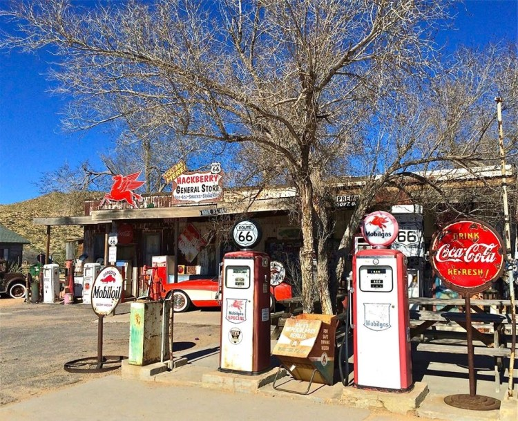 If you're a Route 66 dreamer, then Hackberry General Store is your dream-come-true: dusty, small, out in the middle of nowhere, packed with old cars and old Route 66 stuff.
