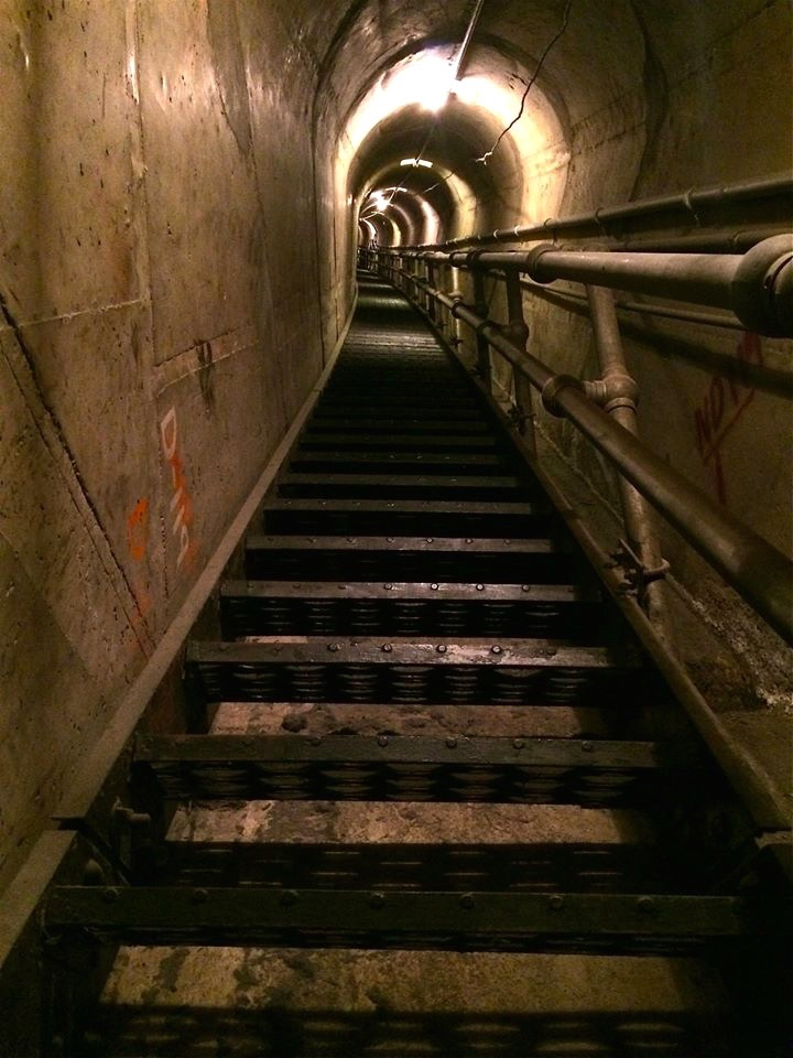 "752 steps back up to the outside world, aka, ""The Stairway to Heaven"""