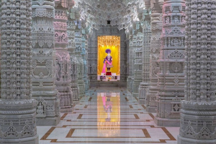 "On September 4, 2005, BAPS performed an ""auspicious groundbreaking ceremony"" for the new temple. BAPS navigated a 14 year journey after first approaching the city in 1998 to build a temple on Peyton Drive. Photo Credit - BAPS Shri Swaminarayan Mandir"