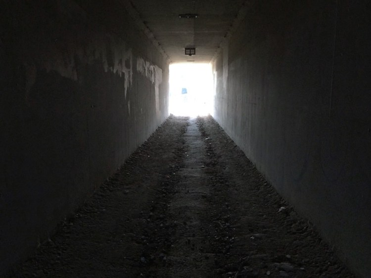 The Portal to Hell? No, just a pedestrian tunnel underneath the 210 Freeway.