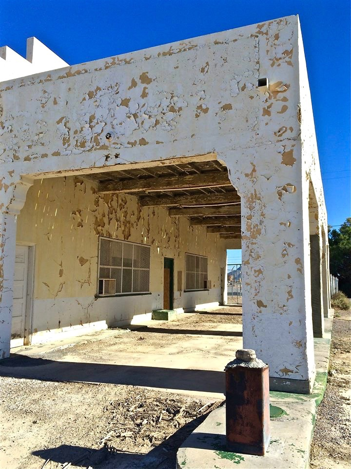 Abandoned filling station in Death Valley Junction; a tiny Mojave Desert ghost town just east of Death Valley National Park.