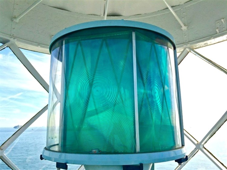 Mariners entering Angel's Gate are guided by the lighthouse's rotating green light.