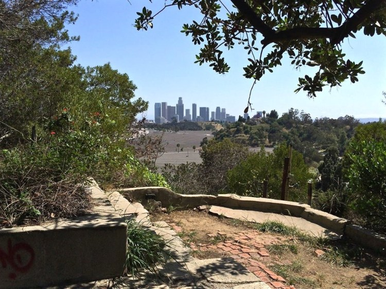 ...follow the southern pathway out and find a secluded little vista point overlooking the city.