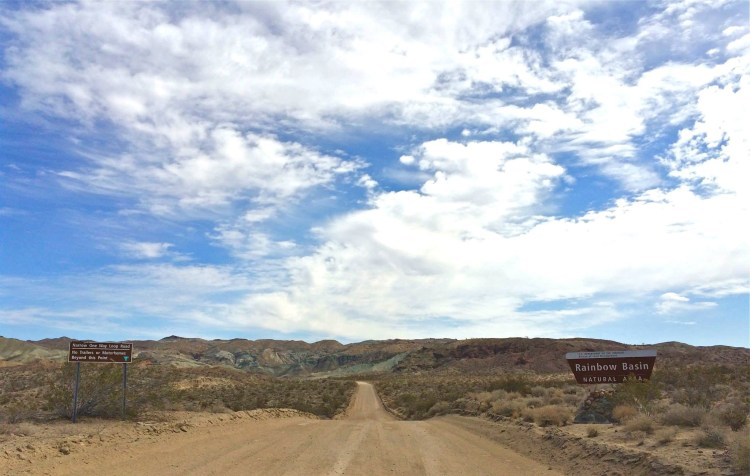It is accessible to the public via Irwin Road from Barstow to an unpaved one-way loop road through the colorful basin. The dirt road is a little ruddy in places but still safe for 2WD vehicles.