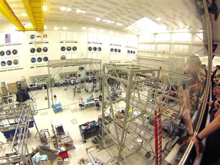 The clean room at JPL's Spacecraft Assembly Facility.
