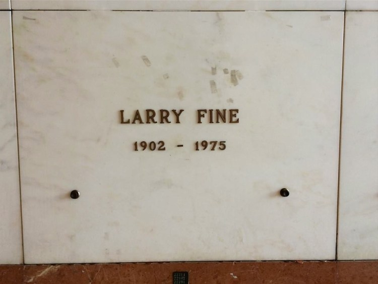 "Larry Fine (1902-1975), one of of the original Three Stooges (Larry, Moe & Curly) - he was the balding one with the frazzled hair around the edges. Between 1930 and 1966, Larry appeared in over 200 movies and ""The Three Stooges"" television show, virtually always as a Stooge, somewhat playing the straight man to Moe and Curly's more outrageous behavior."
