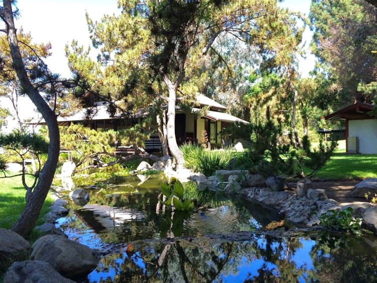 Nestled at the foot of the Verdugo Mountains beside a koi pond in a charming Japanese-style garden setting, the Teahouse is a lovely little oasis after a hike in the hills surrounding the park.