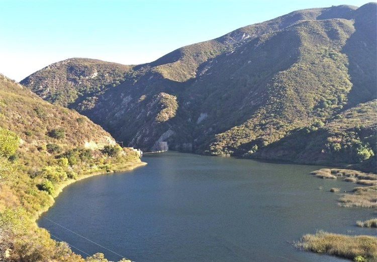The very controversial Matilija Dam above Ojai, if you look closely enough...