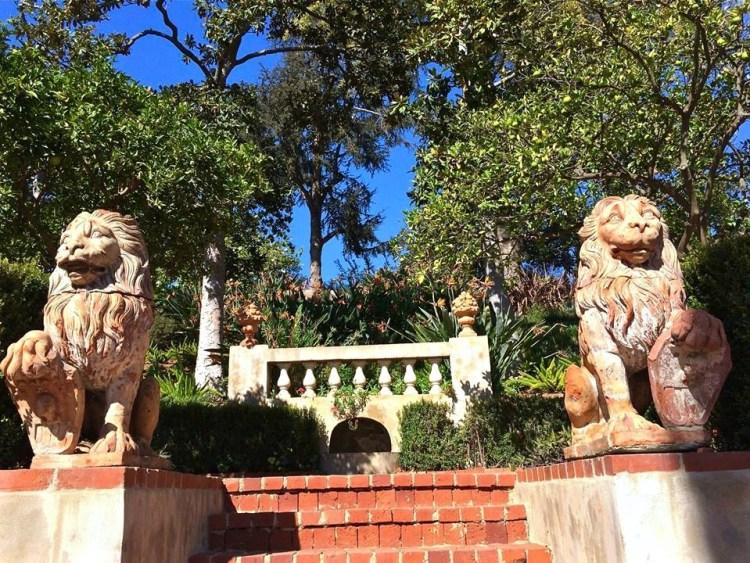 The guardians of the Italian Renaissance Terrace Garden.