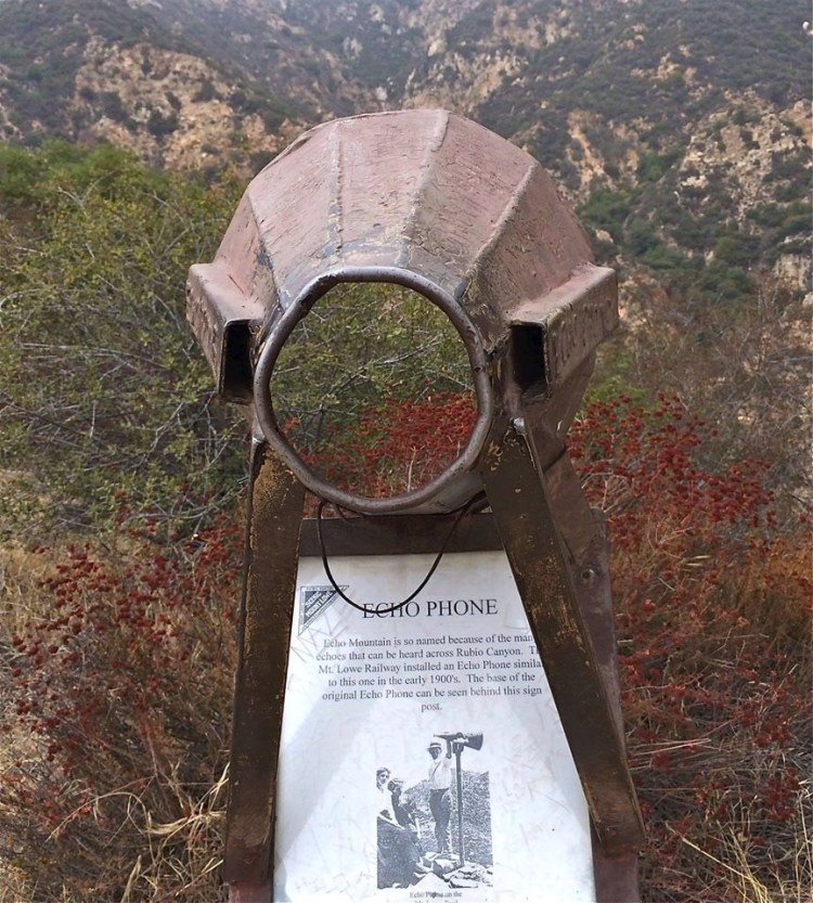 There was another one installed up at Inspiration Point, so patrons could yell to each other.