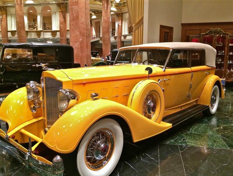 "Now that's a POP of color. Known as the ""Twenty Grand"" because this 1933 Duesenberg cost $20,000 new."