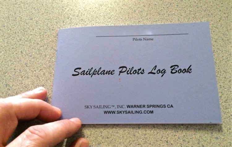 Since I flew the plane, I get my very own pilots log.