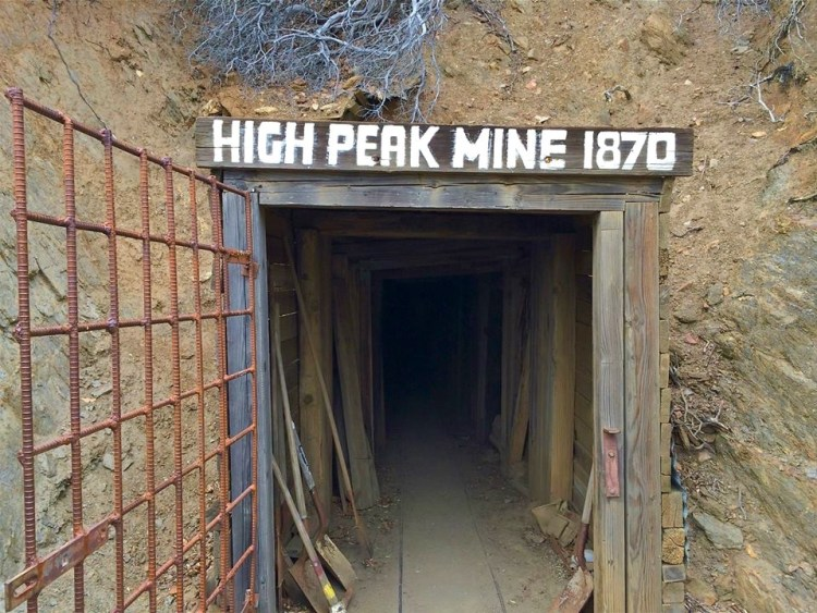Exiting out through the High Peak Mine.