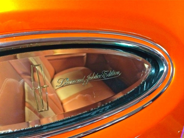 This bright orange 1978 Continental Mark V Diamond Jubilee was definitely my favorite out of the 25 automobiles found in the Lower Salon of the Collection.