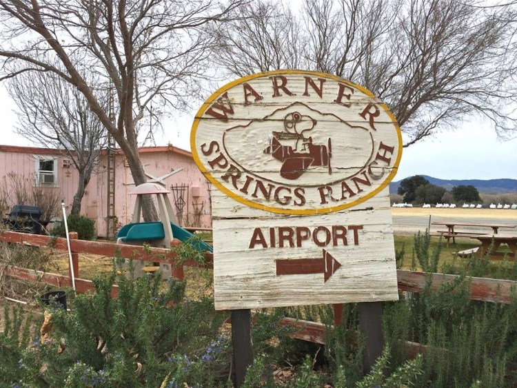 The lovely Warner Springs airport. Warner Springs is a small unincorporated community in northern San Diego County near the Palomar Observatory.