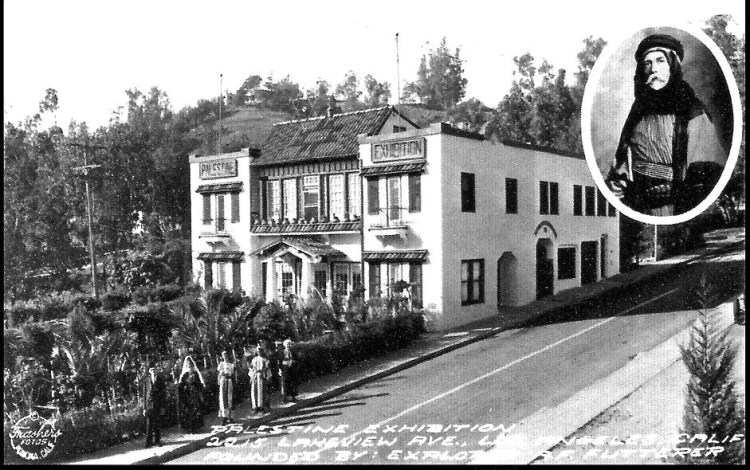 Pre-WWII: Offered Palestine Tours. Antonio F. Futterer founded the Holyand Bible Knowledge Society in 1924. It is a non-profit, interdenominational organization. Futterer's descendants still offer tours of the Holyland Exhibition today. Futterer's photographs of the neighborhood in addition to the Holyland building (at the corner of Lake View Ave. and Allesandro Way) chronicle change since 1923.
