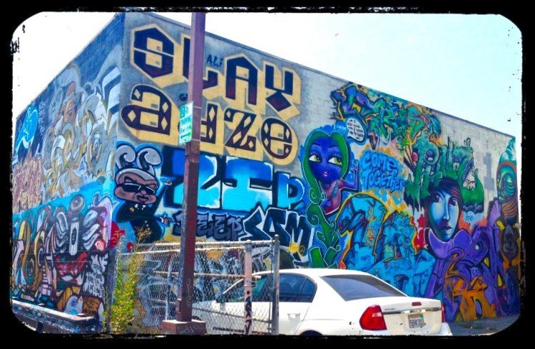 SLAY APZE Various LA City Parking Lot on South Avenue 57 Highland Park, LACA, Highland Park, LACA