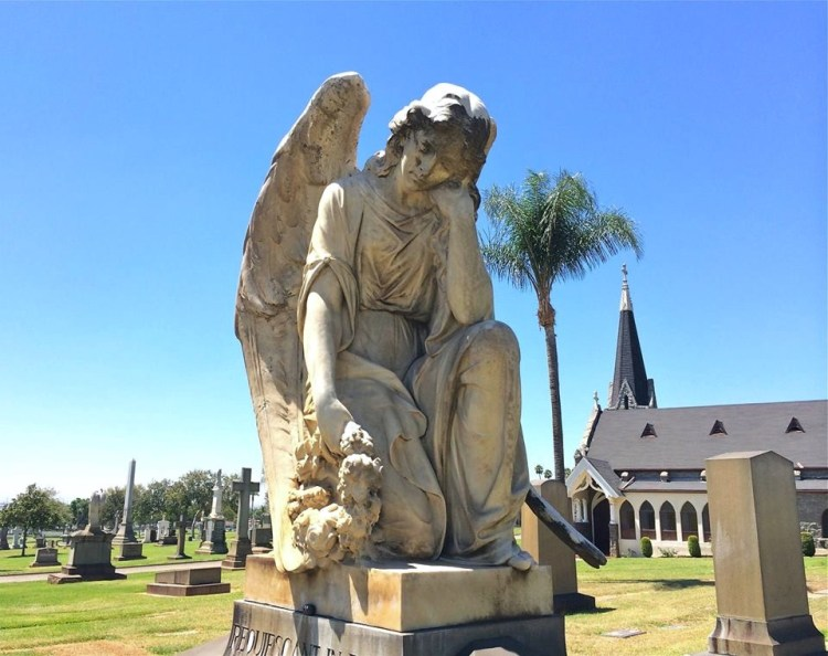 If you like cemetery statuary, this place is for you.