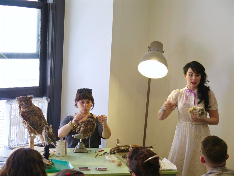 "She opened her studio in 2014 where she teaches ""museum level techniques with a small class-size to ensure each person receives quality instruction and attention."""