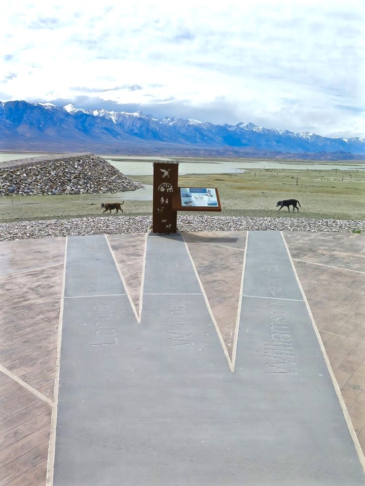 """Five directional concrete bands point to important peaks in the distance,"""" he said. """"Both the name of the peak and elevation are blasted into the concrete."""""""