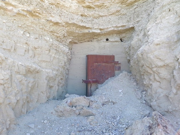 The powder magazine where the explosives were kept for the mine.